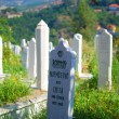 Muslim cemetery in Sarajevo, Bosnia — Stock Photo