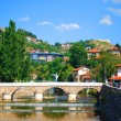 Stock Photo: Sarajevo capital of Bosniand Herzegovinin summer