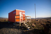 Rescue hut in a interior of Iceland — Stock Photo