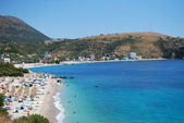 Albanian coast on a sunny summer — Stock Photo