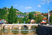 Sarajevo the capital of Bosnia and Herzegovina in the summer — Stock Photo