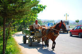 The streets of Albania in the summer days — Stock Photo