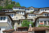 The buildings of the ancient city of Berat in Albania — Stock Photo