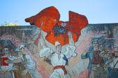 Mosaic on the streets of Tirana in Albania — Stock Photo