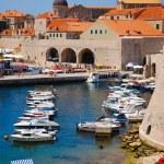 Dubrovnik, Croatia, Europe, Boats in port — Stock Photo #8448004