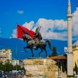 The center of Tirana in Albania, Balkans — Stock Photo