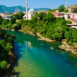 Mostar, Bosnia, Landscape in summer — Stock Photo #8448166