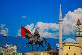 The center of Tirana in Albania, Balkans, Europe — Stock Photo