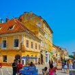 Streets of the romanian, Europe — Stock Photo