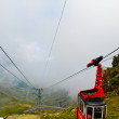 Stock Photo: Mountain lift in Carpathians, Romania, Europe