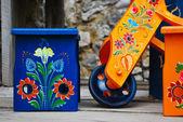 Ethno mönster av rumänien, europa — Stockfoto