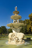 Water fountain with sculpture horizontal — Stock Photo
