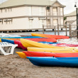 Canoes on the sand — Stock Photo