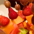 Fruit kebab — Stock Photo
