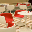 Cafe chairs and tables — Stock Photo