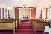 Wedding chapel interior - horizontal — Stock Photo