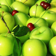 Stock Photo: Plums and cherries