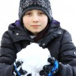 Child and snow — Foto Stock