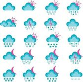 Vector weather icons. — Stock Vector