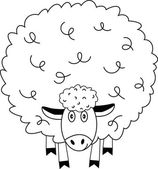 White funny sheep. — Stock Vector