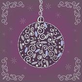 Christmas ball. — Stock Vector