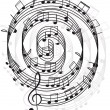 Royalty-Free Stock Vector Image: Music. Treble clef and notes for your design.