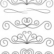 Stock vektor: Vector decorative design elements.