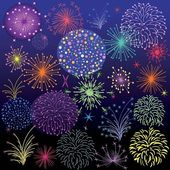 Bright fireworks — Stock Vector