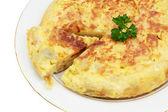 Spanish omelet of potatoes — Stock Photo