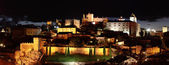 Night panorama of the city of Caceres — Stock Photo