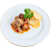 Meat sauce with potatoes — Stock Photo