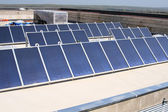 Solar panels on roof boards — Stock Photo