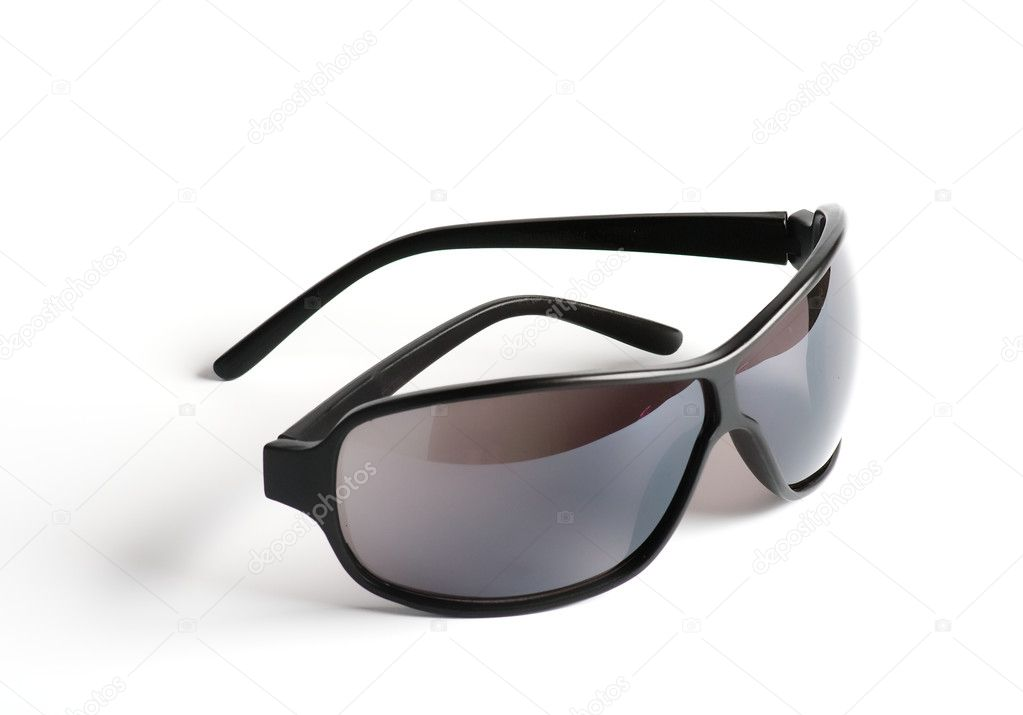 Man's Black sunglasses isolated on white background — Stock Photo #10731806