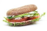 Whole wheat bread sandwich — Stock Photo