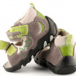 Stockfoto: Baby Shoes close up with Velcro fastener