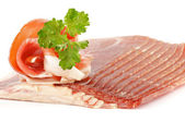 Thin slices of jamon — Stockfoto