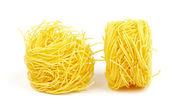 Fresh spaghetti noodles — Stock Photo