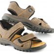 Stock Photo: Brown man's Shoes Sandals with Velcro fastener