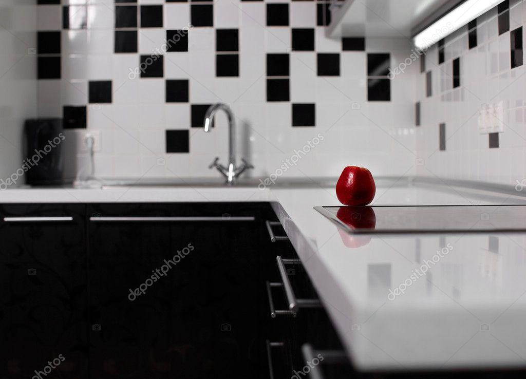 Design Keukens Gelderland : Red Black and White Kitchen Pinterest