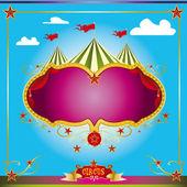 Circus fun leaflet — Stock Vector