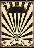 Circus vintage sunbeams — Stock Vector