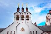 Panteleimon Tselitelya's temple in Potapovo — Stockfoto