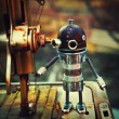 Stock Photo: STEAMPUNK ROBOT