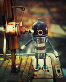 STEAMPUNK ROBOT — Stock Photo