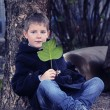 Boy in the garden — Stockfoto #8180098