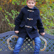 Stockfoto: Boy in the garden