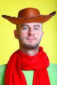 Homem com lenço vermelho — Fotografia Stock
