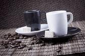 Iki espresso bardaklar — Stok fotoğraf