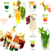 Fancy Cocktail Collage - Alcohol Background — Stock Photo