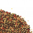 Stock Photo: Mixed peppercorns isolated on white background